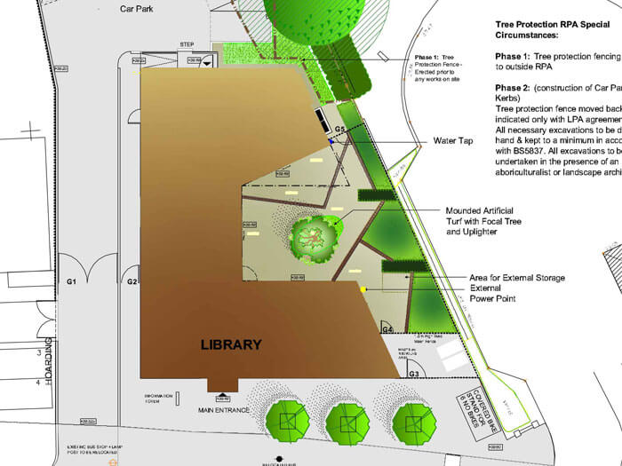 Petrow Harley Library Landscaping Planning